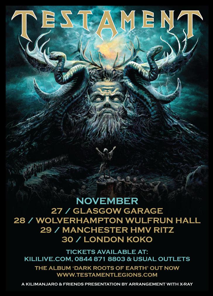 Testament live at HMV Ritz Manchester