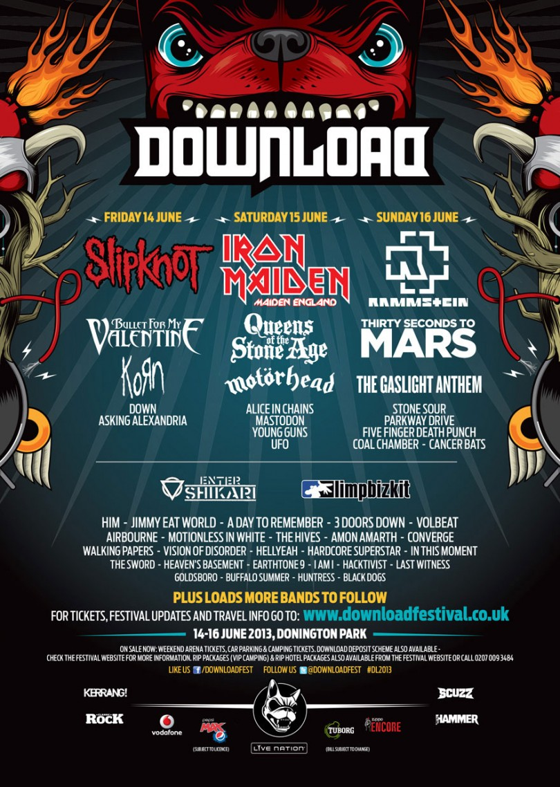 Bien-aimé Download Festival 2013 - Day 3 | All About The Rock BH36