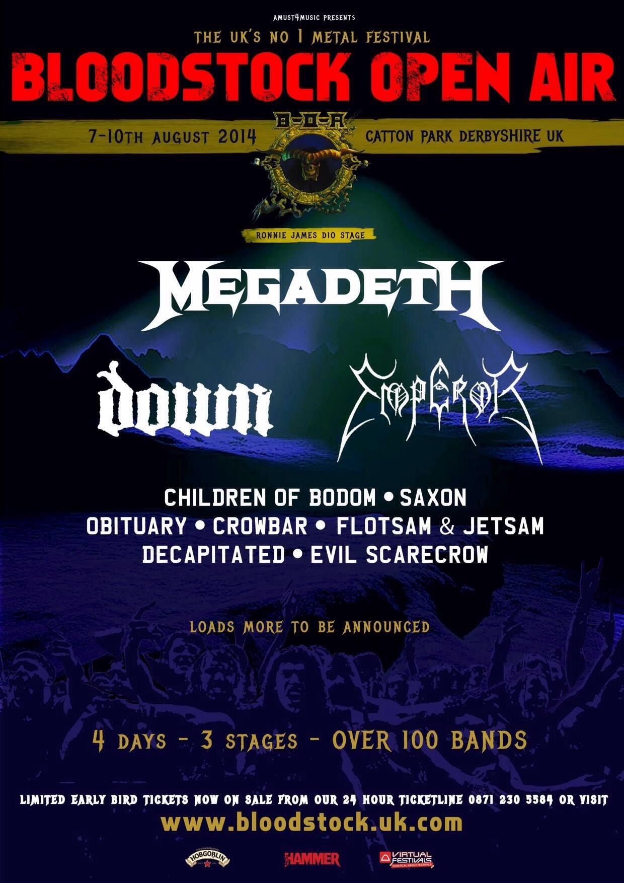 Bloodstock 2014 – 3 more bands announced