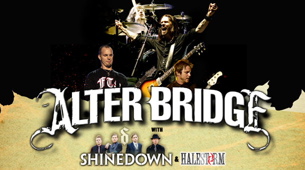 Alter Bridge/Shinedown/Halestorm – Concert review, Manchester 22.10.2013