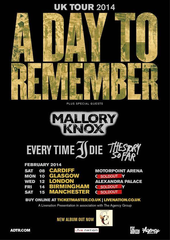 A Day To Remember – Live in Glasgow