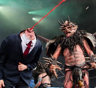 "Gwar Criticised For ""Appalling"" Tony Abbott Decapitation At Soundwave 2014"
