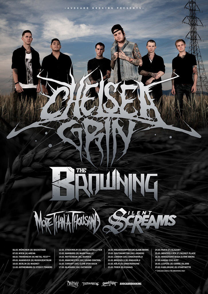 The Browning On tour with Chelsea Grin