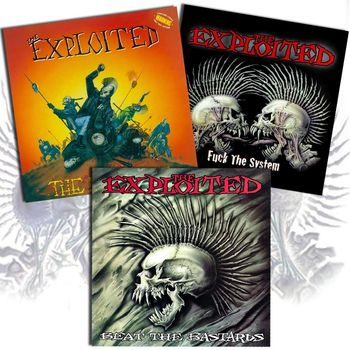 The Exploited – The Massacre / Beat The Bastards / Fuck The System (Re-issues)