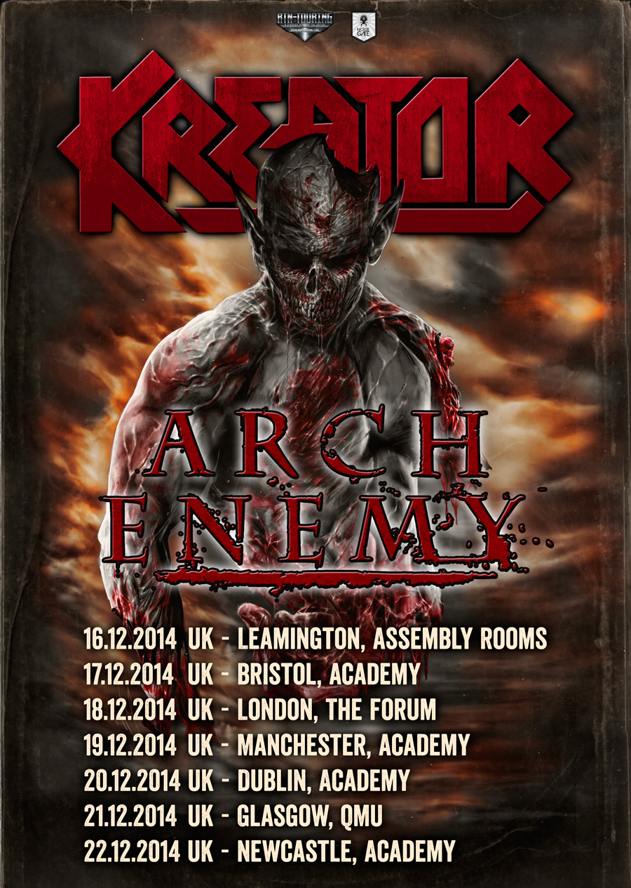 Kreator announce UK 2014 Tour Dates