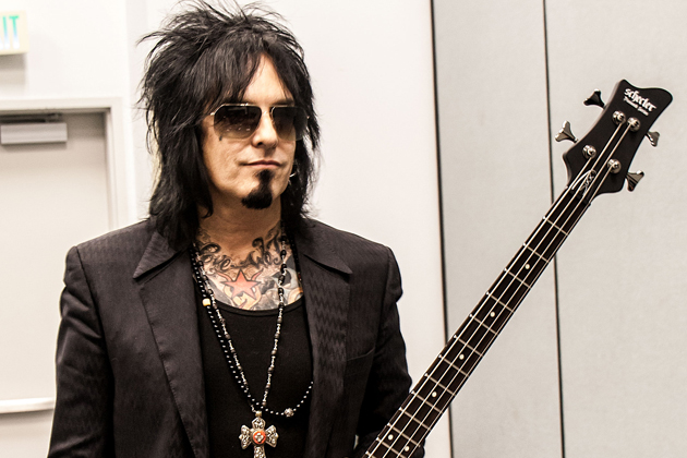 Mötley Crüe's Nikki Sixx working at a record store