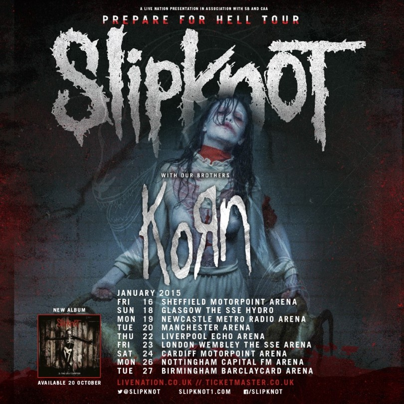 Slipknot And Korn Tour Uk