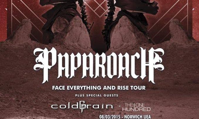 The One Hundred announced as opening band on Papa Roach UK tour
