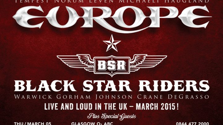 Europe, Black Star Riders – Manchester 13.03.2015