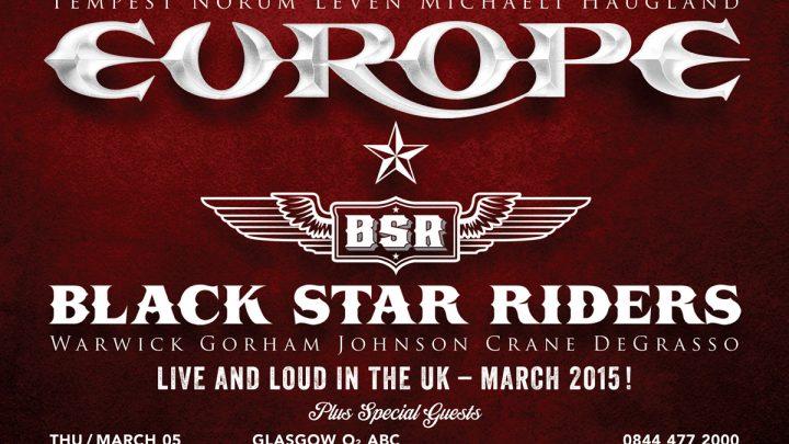 Europe, Black Star Riders – Manchester 13.03.2015