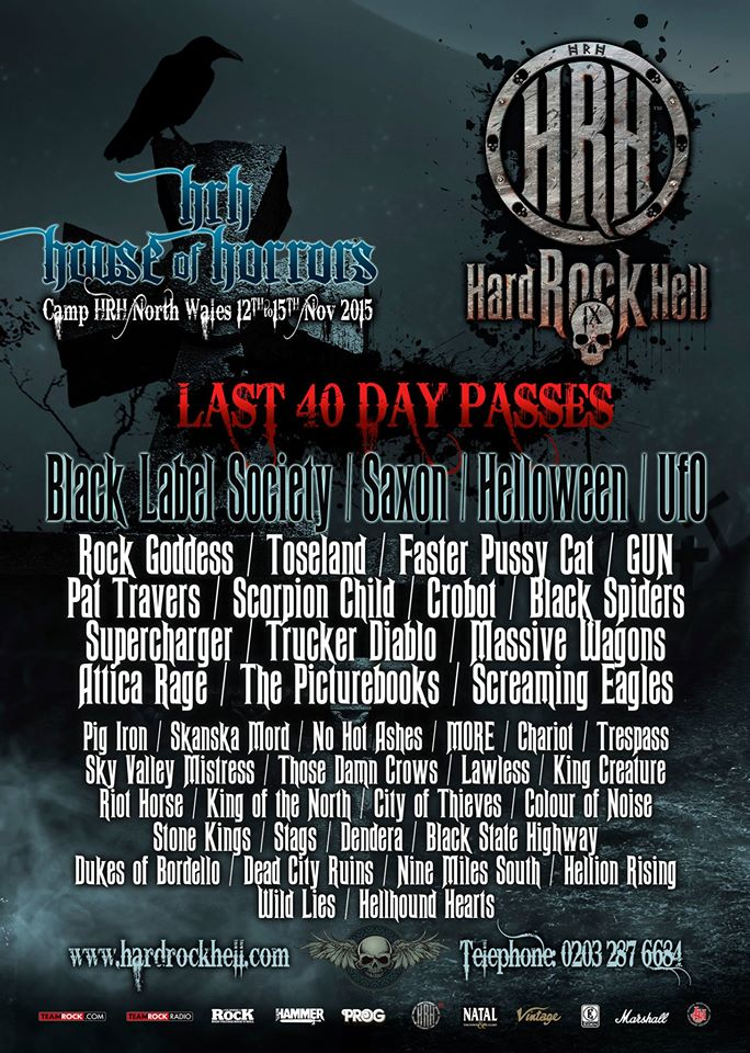 Faster Pussycat, GUN & Pat Travers join BLS, Saxon, Helloween & UFO for HRH9