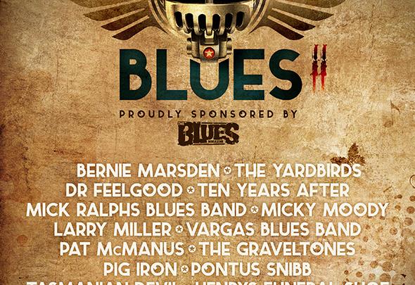 Bernie Marsden, The Yardbirds, Dr Feelgood & Ten Years After lead HRH Blues 2 in a Vintage Blues Rock Rollercoaster