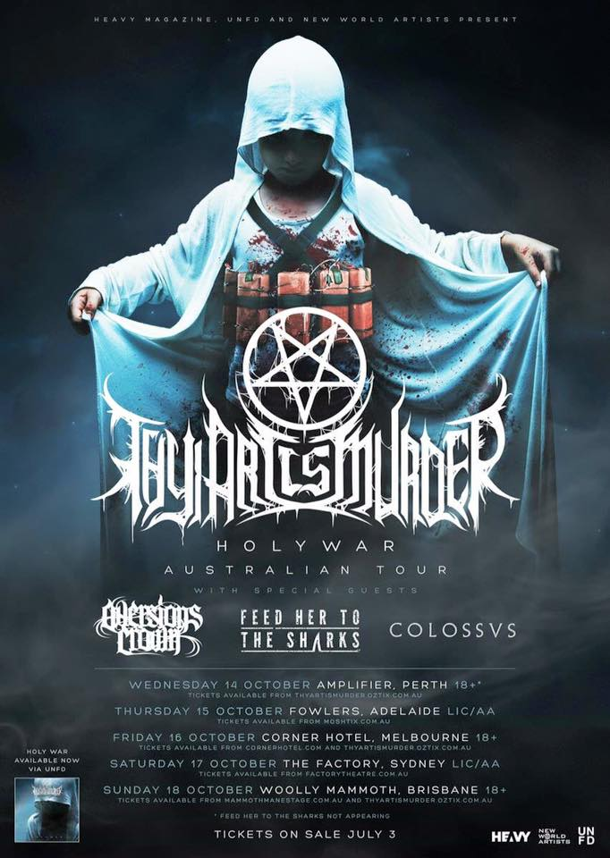 Thy Art Is Murder/Aversions Crown/Feed Her To The Sharks/Colossvs – Woolly Mammoth, Brisbane – 18/10/15