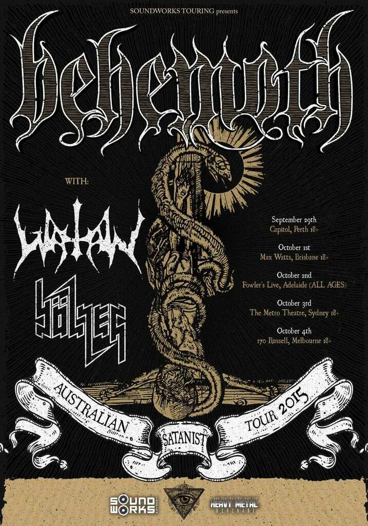 Behemoth, Watain & Bolzer @ Max Watt's – Brisbane, 01/10/15