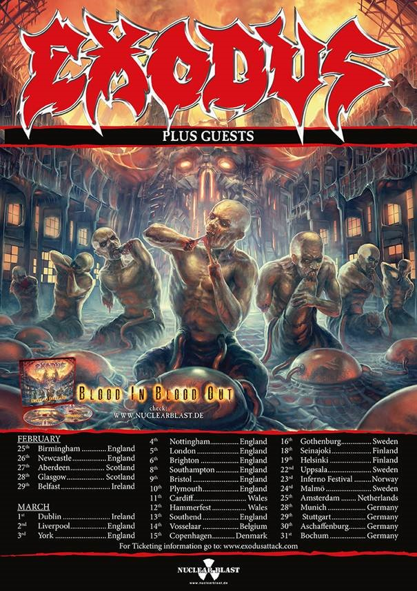 Exodus announce uk ireland tour 2016 all about the rock for Soil uk tour 2016