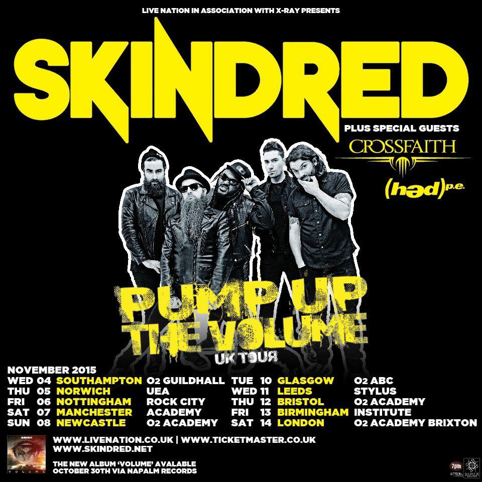 (hed)p.e. UK Tour with Skindred, Crossfaith & Yashin