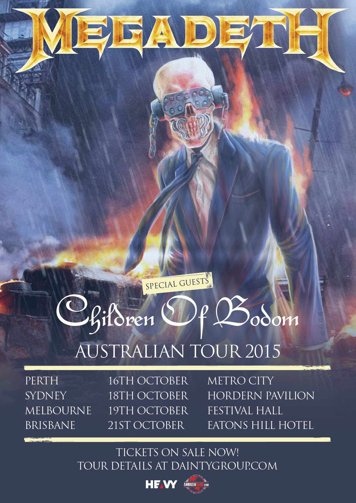 Megadeth/Children of Bodom – Eatons Hill Hotel, Brisbane, 21/10/15