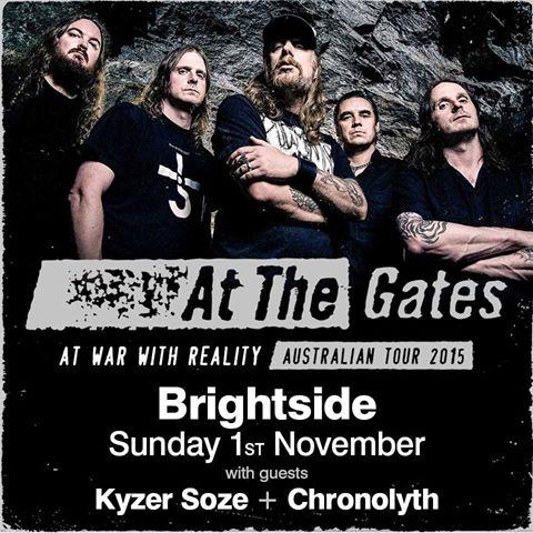 At The Gates/Kyser Soze/Chronolyth – The Brightside, 01/11/15