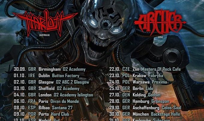 Annihilator supported by Harlot and Archer @ Hard Club – Portugal