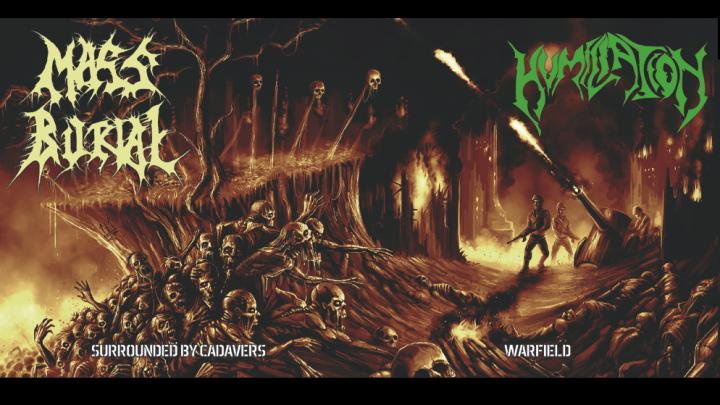 Humiliation – Mass Burial split EP