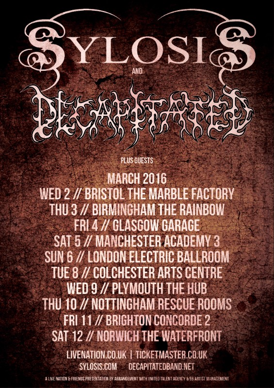 Sylosis and Decapitated announce co-headline UK tour!