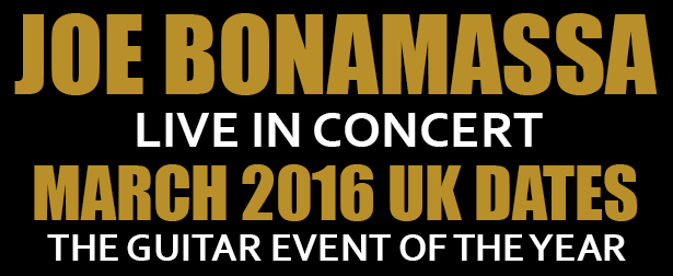 Joe Bonamassa announces March 2016 UK tour dates