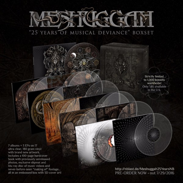 MESHUGGAH TO RELEASE 25 YEARS OF MUSICAL DEVIANCE BOX SET!