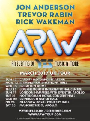YES members reform as ARW and announce UK tour