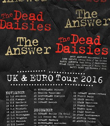 The Dead Daisies & The Answer Co-Headline UK November Tour