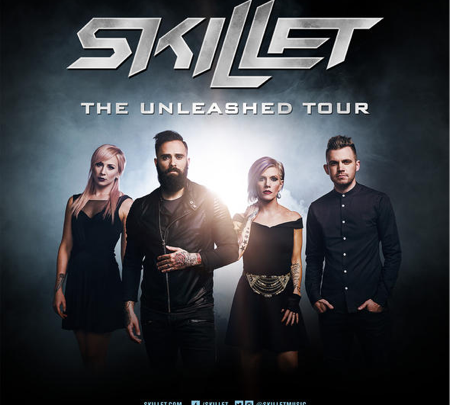 "SKILLET ""The Unleashed Tour"" Europe and Russia includes LONDON on December 9th New album UNLEASHED available on August 5th"