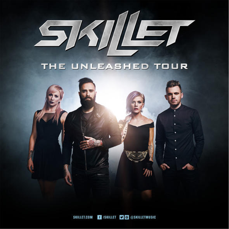 """SKILLET """"The Unleashed Tour"""" Europe and Russia includes LONDON on December 9th New album UNLEASHED available on August 5th"""