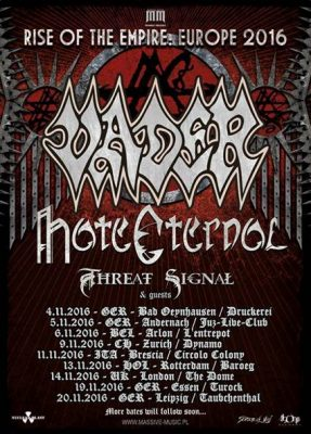 Vader tour poster