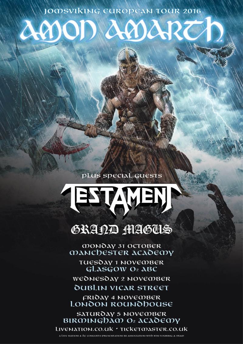 Amon Amarth: Gig Review – Glasgow, 01/11/2016