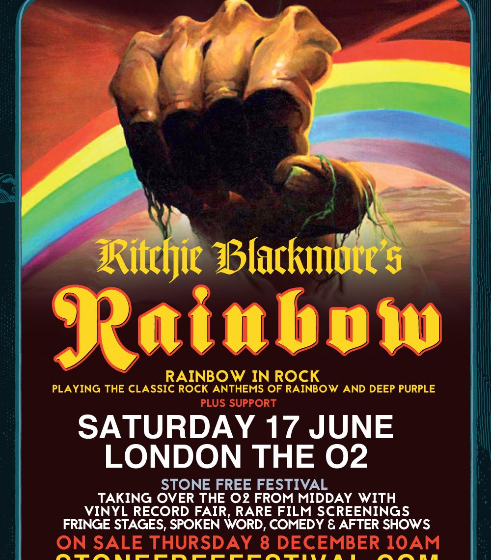 RITCHIE BLACKMORE'S RAINBOW UK TOUR – JUNE 2017