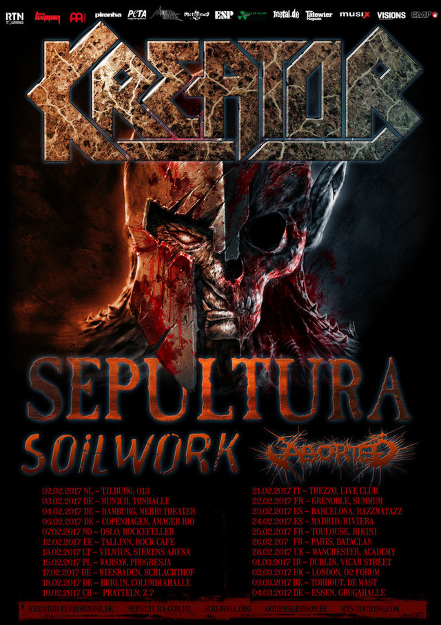 Aborted, Soilwork, Sepultura and Kreator – Manchester Academy (Gig Review)