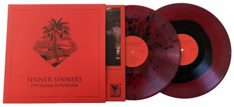 """SINNER SINNERS Release Limited Edition Blood Red """"Optimism Disorder"""" Vinyl"""