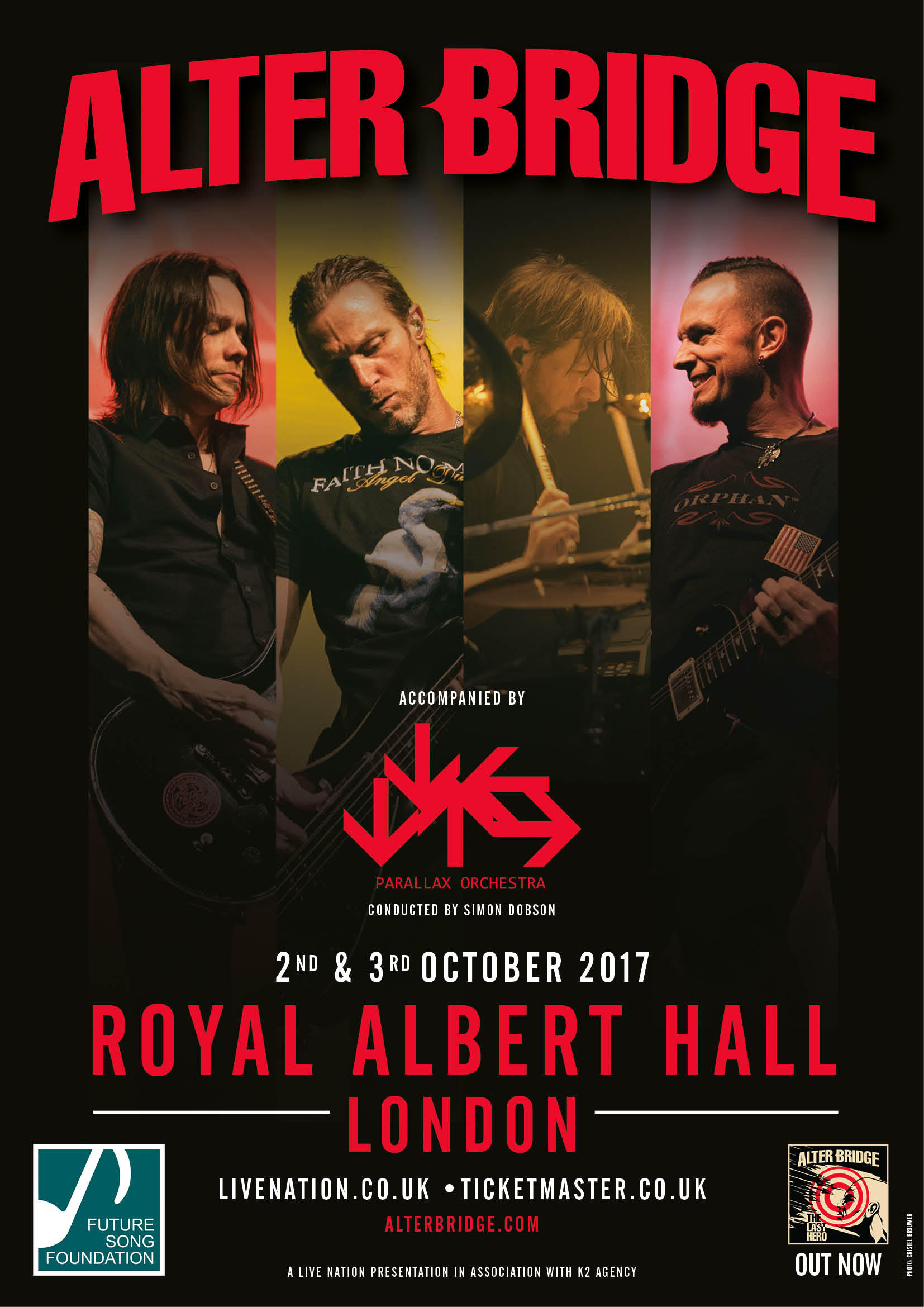 ALTER BRIDGE ANNOUNCE TWO VERY SPECIAL NIGHTS AT THE ROYAL ALBERT HALL