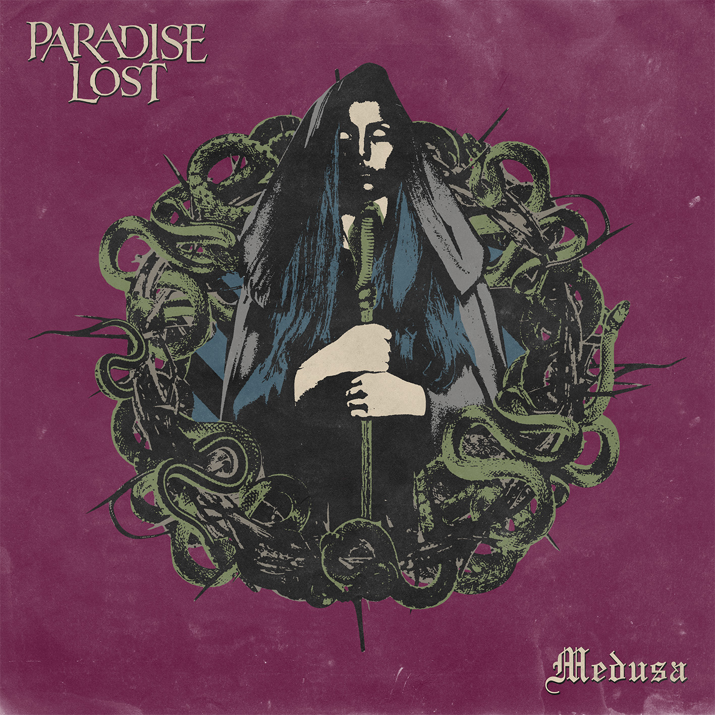 PARADISE LOST UNVEIL COVER AND RELEASE DATE FOR 'MEDUSA'