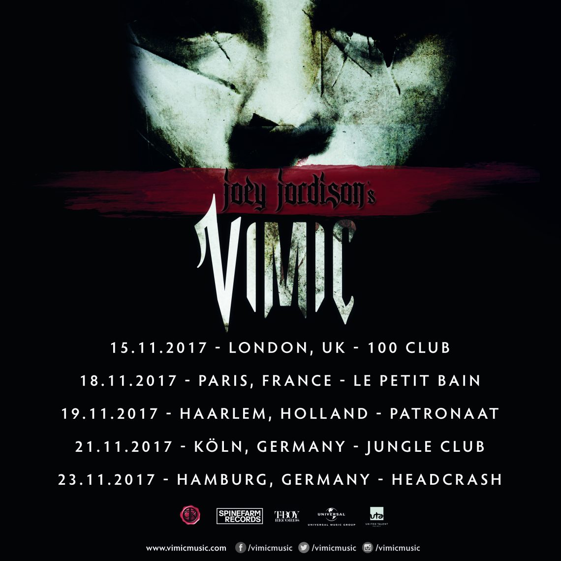 Joey Jordison's band, VIMIC announce one-off UK show