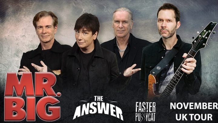 MR. BIG  UK tour November 2017 to promote 'Defying Gravity' new album on Frontiers