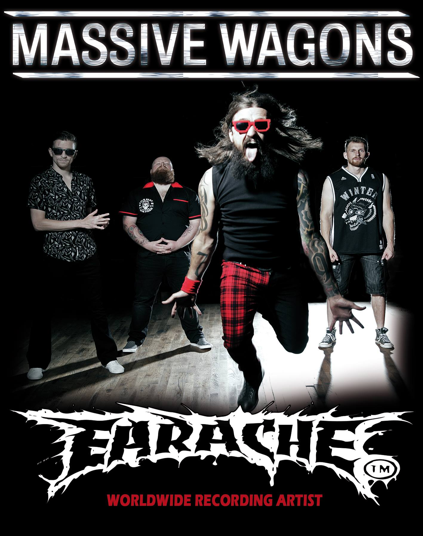 MASSIVE WAGONS SIGN WORLDWIDE DEAL WITH EARACHE RECORDS