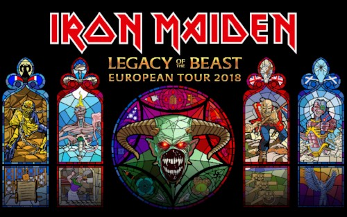 Iron Maiden announce Legacy Of The Beast European Tour 2018
