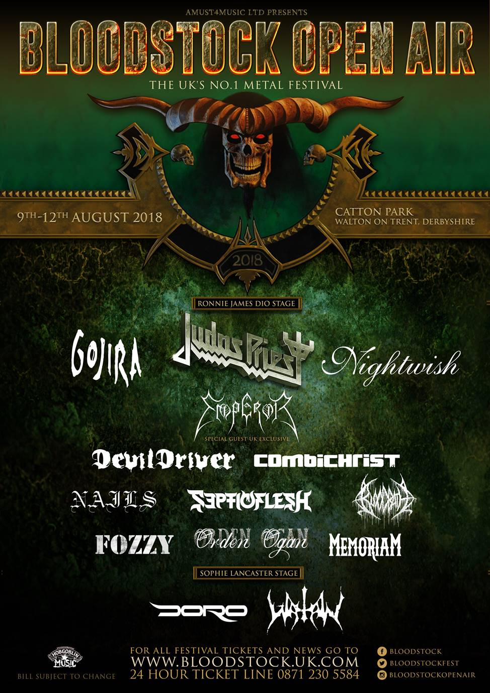 BLOODSTOCK welcome DORO, FOZZY, BLOODBATH, & SEPTICFLESH