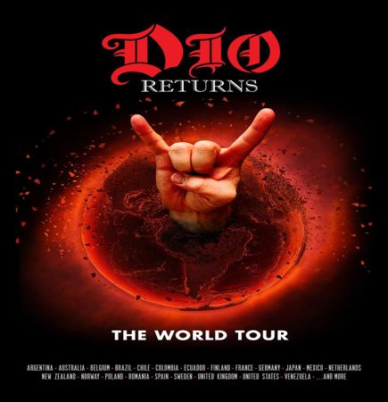 """DIO Returns: The Tour"" featuring a hologram of Ronnie James Dio – UK/European Tour In December 2017"
