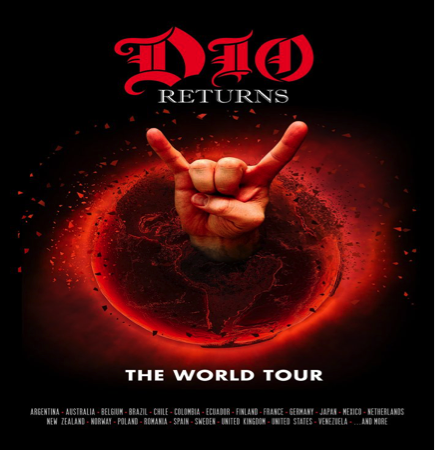 RONNIE JAMES DIO HOLOGRAM TOUR 'DIO Returns: The Tour'