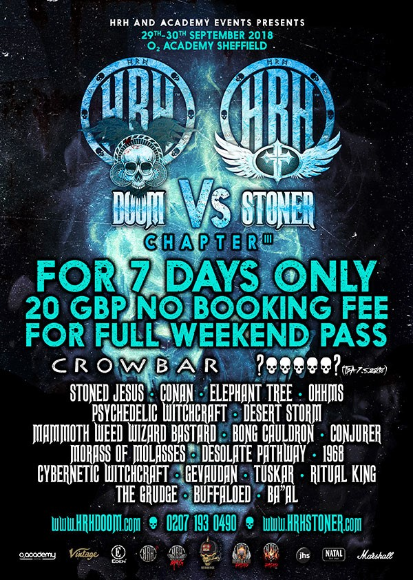Crowbar, Stoned Jesus & Conan catapult HRH Doom vs HRH Stoner's 3rd Cycle