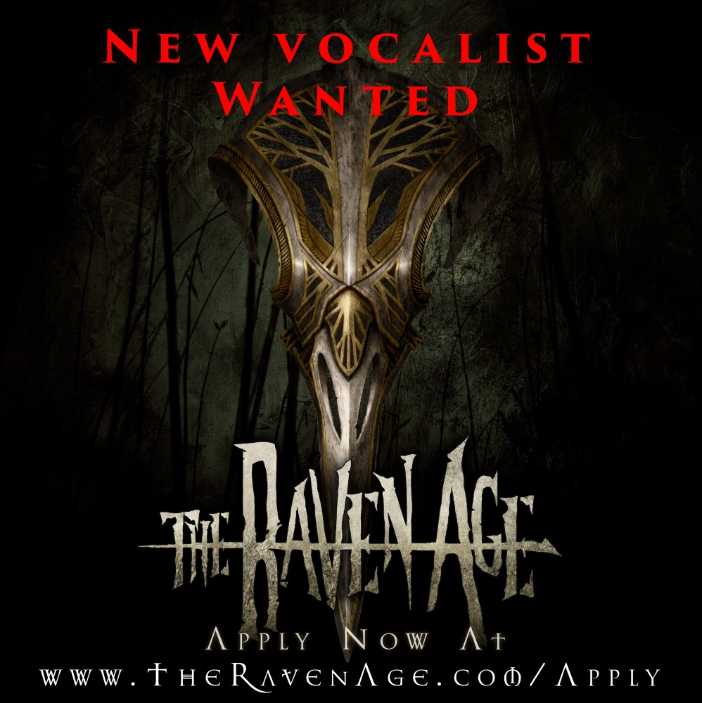 THE RAVEN AGE announce opportunity for new lead vocalist