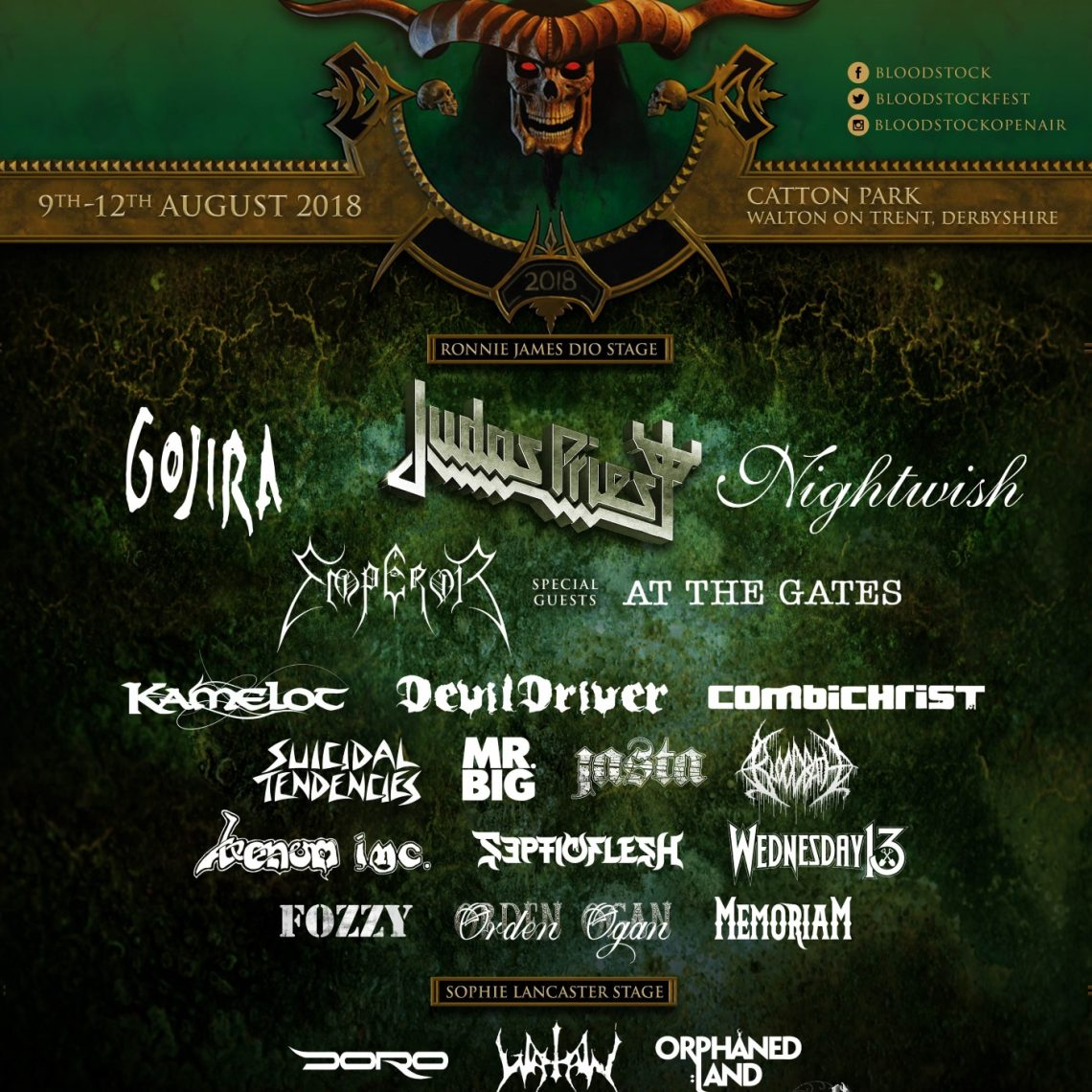 BLOODSTOCK Welcomes At The Gates, Exhorder, & more….