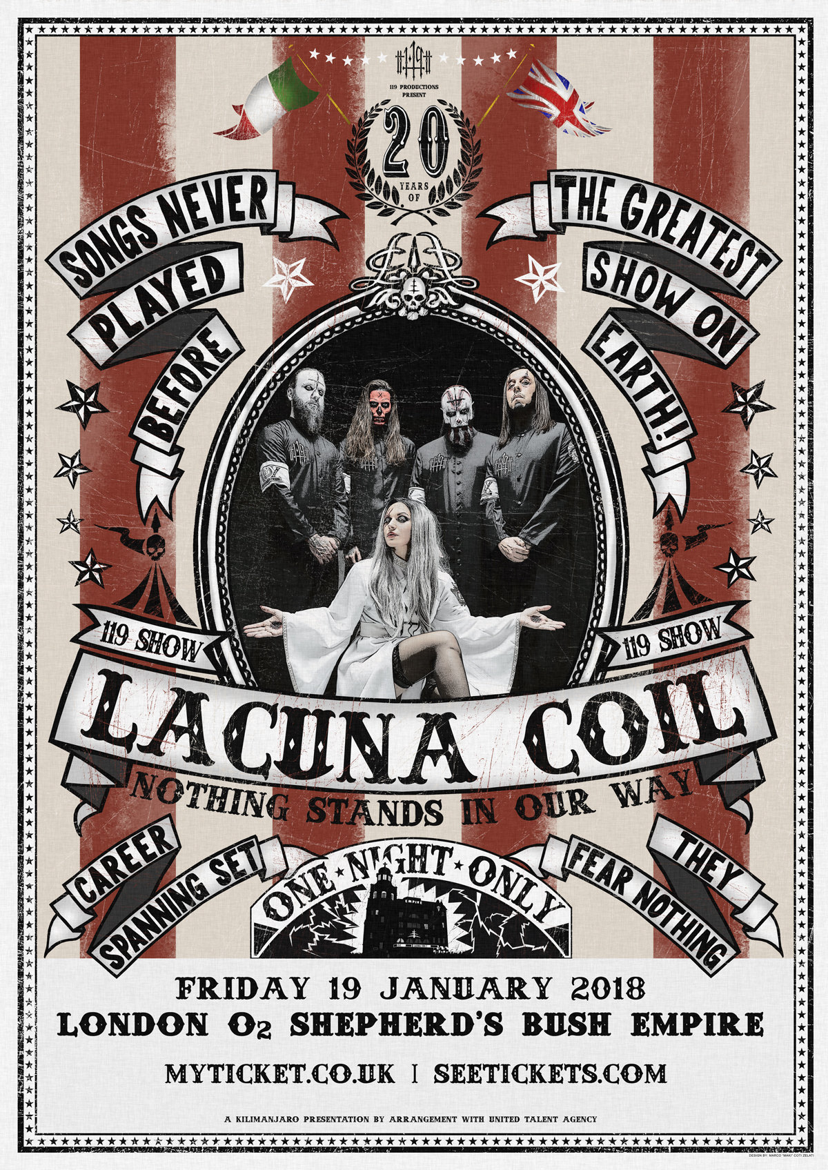 "LACUNA COIL announce 20th anniversary show ""Nothing Stands In Our Way"""