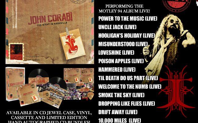 "RPR set to release John Corabi ""Live 94"" (One Night In Nashville)"